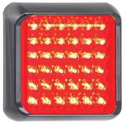LED brake / rear light with black border | 12-24v | 40cm. cable