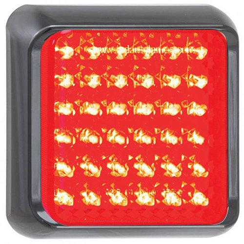 LED Autolamps  LED rem/achterlicht met zwarte rand     12-24v   40cm. kabel