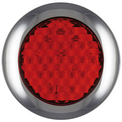 LED brake / rear light with chrome rim | 12-24v | 0.15m. cable
