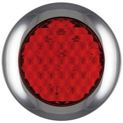 LED rem/achterlicht met chromen rand  | 12-24v | 0,15m. kabel