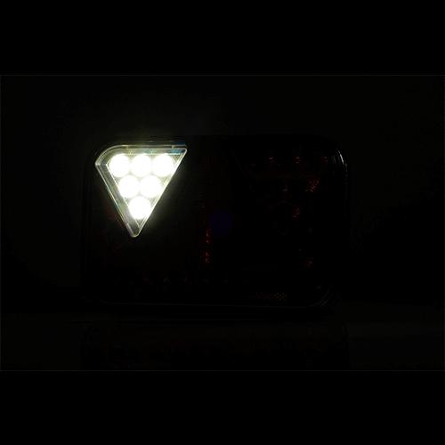 Rechts | LED achterlicht met achteruitrijlicht & kentekenverlichting | 12v | 100cm. kabel