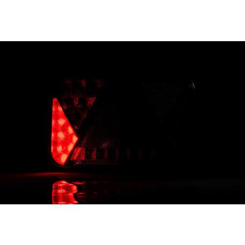 Rechts | LED achterlicht met  achterlicht & kentekenlicht  12v 5PIN