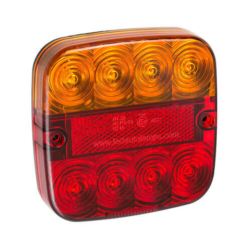Compact LED rear light with license plate light 12v 50cm. cable