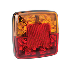 Compact LED rear light without license plate light 12V 30cm. cable