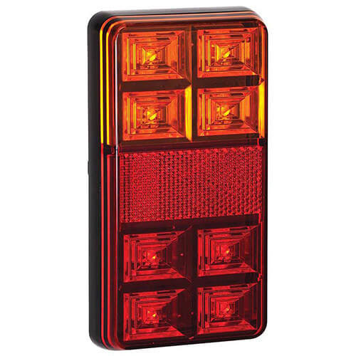 Compact LED rear light without license plate light 12V 40cm. cable