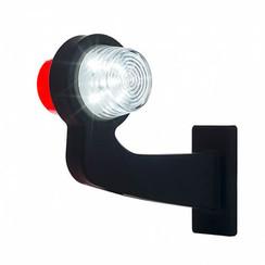 LED pendellamp rechts, haakse steel & heldere lens,  | 12-24v |