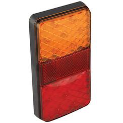 Compact LED rear light | 12-24v | 10m. cable