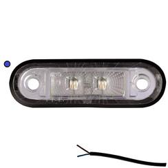 LED markeringslicht blauw  | 12-24v | 50cm. kabel