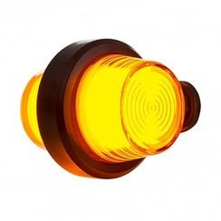 LED pendellamp amber, korte steel & matte lens,  | 12-24v