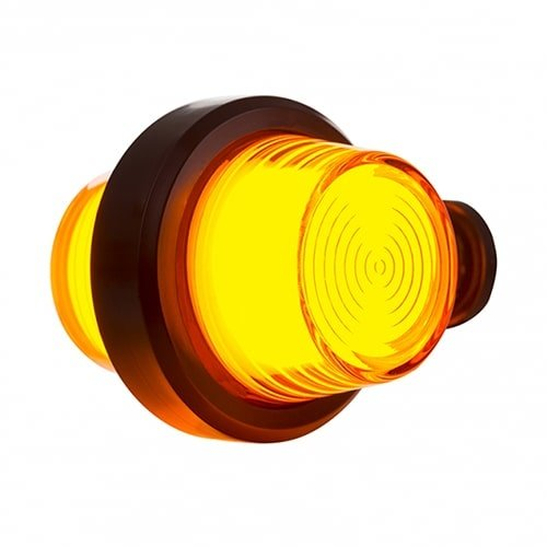 LED pendellamp amber, korte steel & matte lens,    12-24v