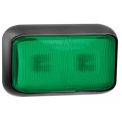LED marker light green | 12-24v | 40cm. cable