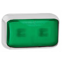 LED markeringslicht groen  | 12-24v | 40cm. kabel