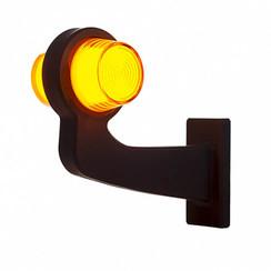 LED pendellamp amber, haakse steel & matte lens,  | 12-24v |