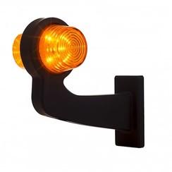LED pendellamp amber, haakse steel & heldere lens,  | 12-24v |