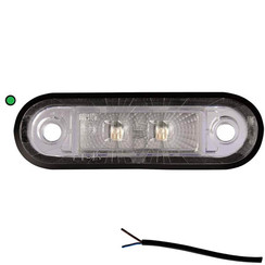 LED marker light green | 12-24v | 50cm. cable