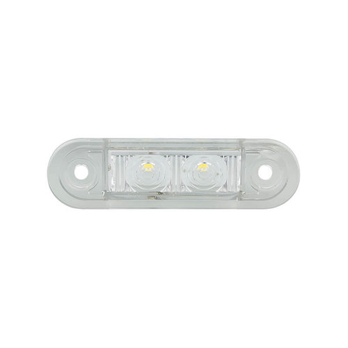 LED Autolamps  LED markeerverlichting wit inbouw  | 12-24v | 20cm. kabel