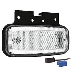 LED marker lights White | 12-24v | 0,75mm² connector