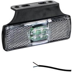 LED markeringslicht wit  | 12-24v |  50cm. kabel