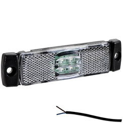 LED marker light white | 12-24v | 50cm. cable