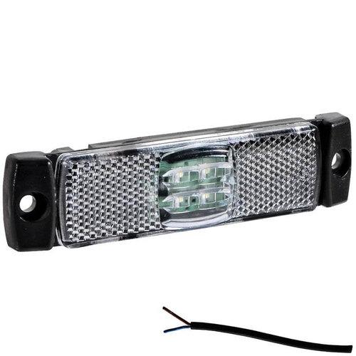 LED markeringslicht wit   12-24v   50cm. kabel