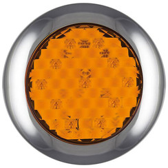 LED mit Chromring blinkt | 12-24V | 0,15m. Kabel