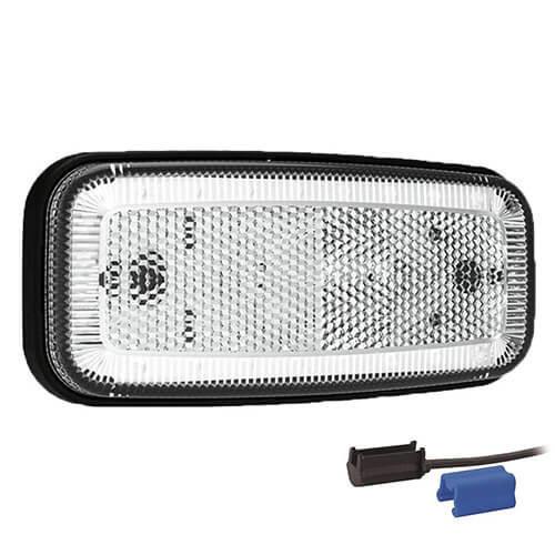 Fristom LED markeerlicht wit    12-24v   0,75mm² connector