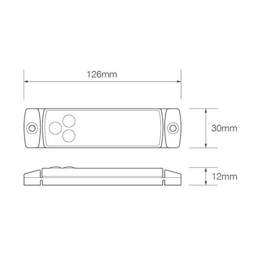 LED Autolamps  LED markeringslicht wit  | 12-24v | 50cm. kabel