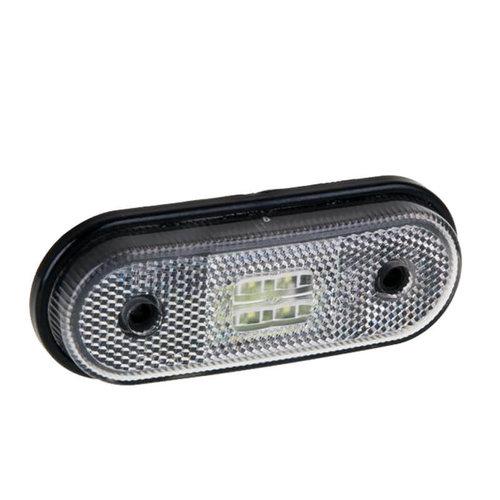 Fristom LED markeringslicht wit | 12-24v | 50cm. kabel
