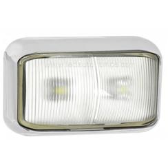 LED marker light white   12-24v   20cm. cable