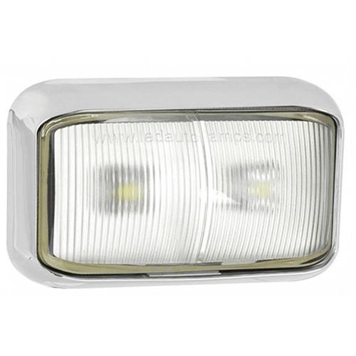 LED Autolamps  LED markeringslicht wit   12-24v   20cm. kabel