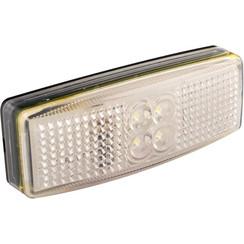 LED markeringslicht wit  | 12-24v | 20cm. kabel