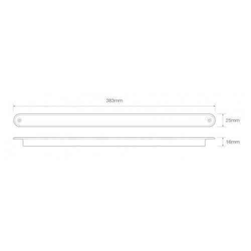 LED knipperlicht slimline 24v 40cm. kabel