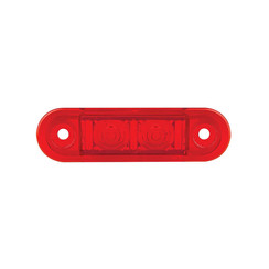 LED marker lights red flush | 12-24v | 20cm. cable