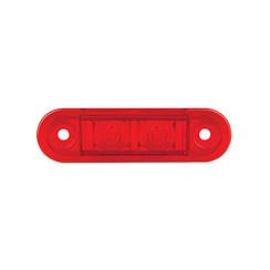 LED Umrissleuchtenn rot bündig | 12-24V | 20 cm. Kabel