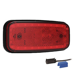 LED marker light red | 12-24v | 0,75mm² connector