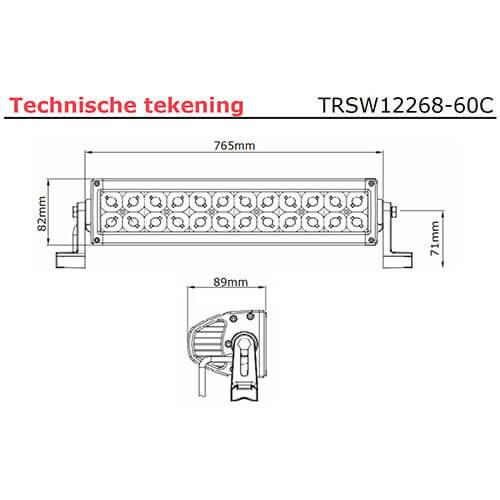 LED bar | 180 watt | 12600 lumen | 9-30v | 40cm. kabel | Deutsch-connector