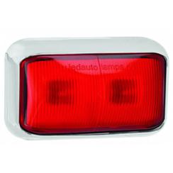 LED markeerlicht rood  | 12-24v | 40cm. kabel