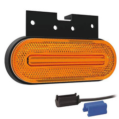 LED marker light amber | 12-24v | 0,75mm² connector