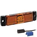 Fristom LED markeringslicht amber  | 12-24v |  0,75mm² connector