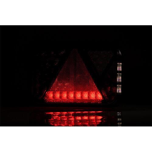 Links | LED achterlicht met mistlicht & kentekenlicht | 12v | 100cm. kabel