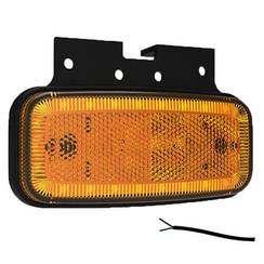LED markeerlicht amber  | 12-24v |  50cm. kabel