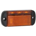 LED Autolamps  LED markeringslicht amber    12-24v   40cm. kabel