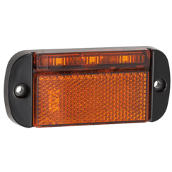 LED marker light amber | 12-24v | 40cm. cable