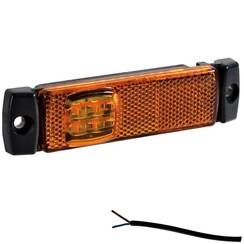 LED markeringsverlichting amber  | 12-24v |  50cm. kabel