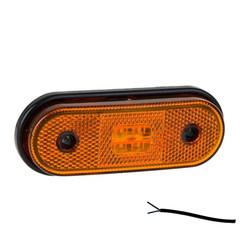 LED markeringslicht amber  | 12-24v | 50cm. kabel