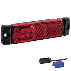 LED marker lights red | 12-24v | 0,75mm² connector