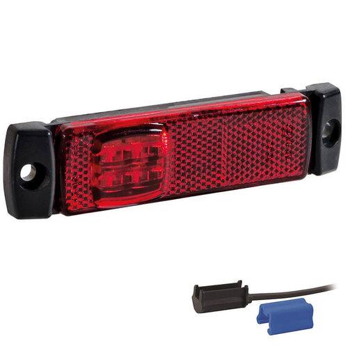 LED markeerverlichting rood    12-24v   0,75mm² connector