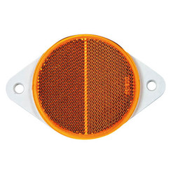 Amber reflector | 78 x 5.5mm | screw mounting