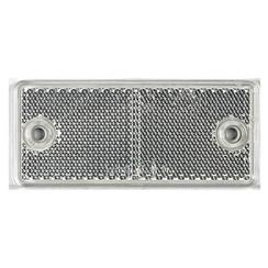 Weißer Reflektor | 90 x 40 mm | Schraubbefestigung