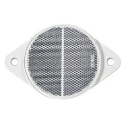 Weißer Reflektor | 78 x 5,5 mm | Schraubbefestigung